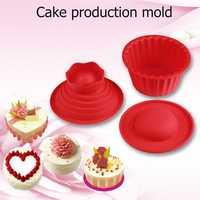 3ピースシリコーン巨大カップケーキ金型diyビッグトップケーキ型耐熱飾るベーキングツールシリコーン