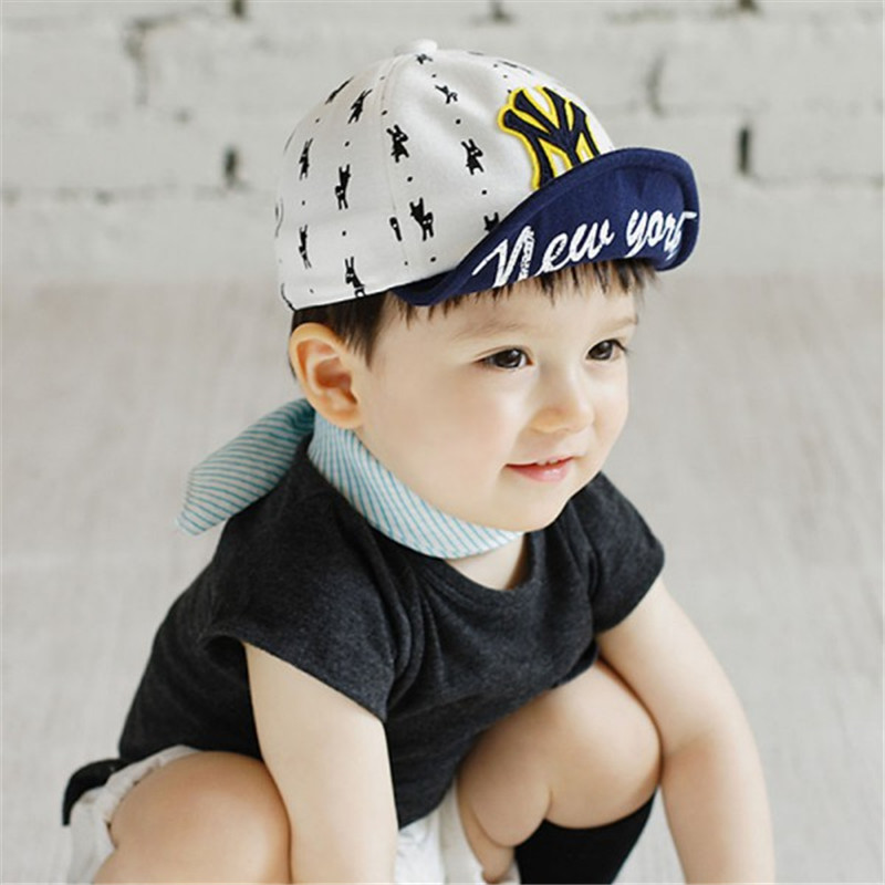 Fashion New Children NY Letters Baseball Cap Kid Boys Girls Bones Snapback  Hip Hop Flat Hat Baby Casquette-in Baseball Caps from Apparel Accessories  on ... df77b2f14e1