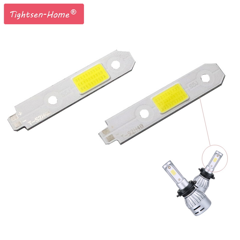 4pcs/lot S2 Headlight COB Chip LED Light Source for DIY S2 Auto Headlamp H 4 H13 9007 9004 High Low Beam Bulb 6500K COB lamp image