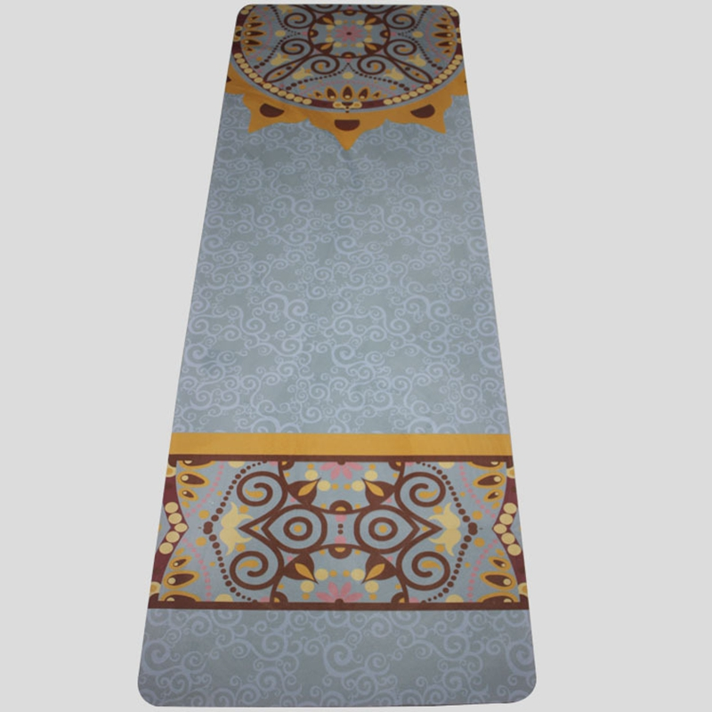 183 61 0 5cm Fitness rubber mat Natural rubber natural linen yoga mat high density high