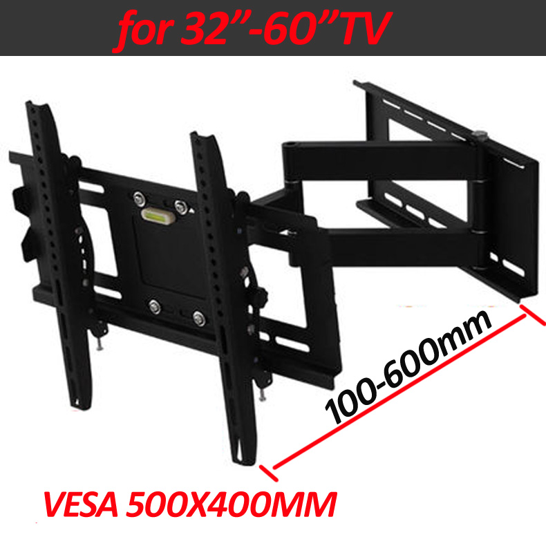 DL-WA-60AT 60inch 55inch 46inch retractable swivel LCD PLASMA fold full motion tv bracket lcd wall mount led stand holder