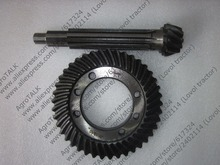 Hebei Xingtai XT180D tractor parts, the set of passive bevel gear and driving bevel gear, part number:16.37.134 16.37.140