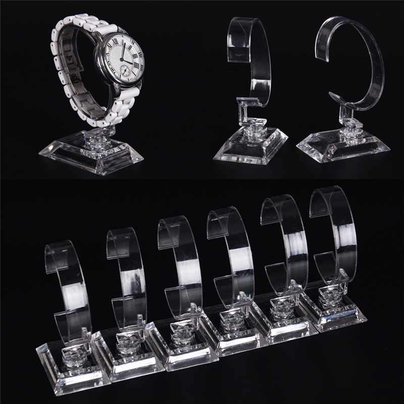 2pc Clear Acrylic Bracelet Watch Display Holder Stand Rack Retail Shop Showcase Top Quality