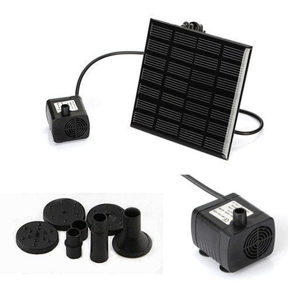 High Quality Solar-Powered Pump Brushless DC Solar Power Fountain Pool Water Pump Garden Plants Watering Kit solar pond pump kit