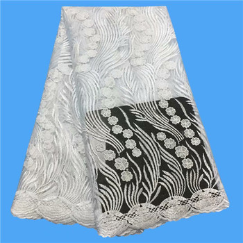 Wholesales African Lace Fabric 2019 High Quality Fabric African Tulle Lace Fabric Nigerian Lace Fabrics For Wedding