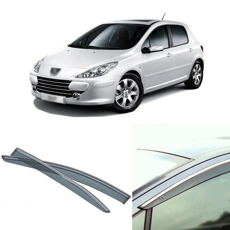 Jinke 4pcs Blade Side Windows Deflectors Door Sun Visor Shield For Peugeot 207 2004-2013 jinke 4pcs blade side windows deflectors door sun visor shield for peugeot 408 2010 2013