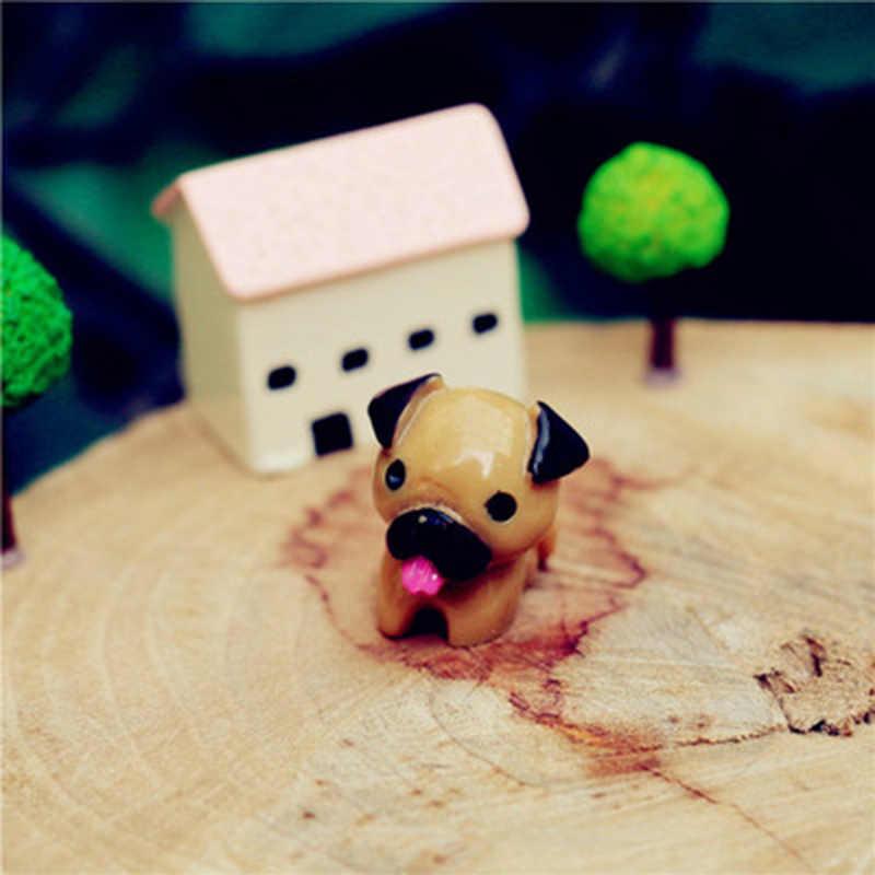 ZOCDOU 3 個 Toady 犬パグ雑貨デスクオフィスディスプレイモデル小彫像置物工芸品フィギュア飾りミニチュア DIY