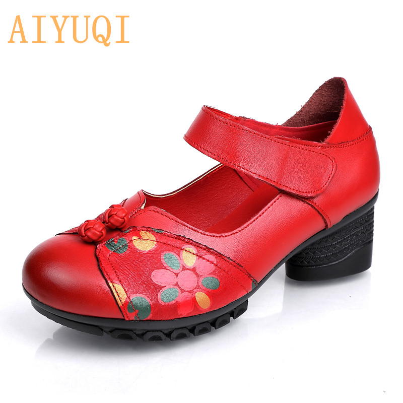 AIYUQI Shoes women 2019 spring womens platform shoes genuine leather retro loafers new ladies footwear