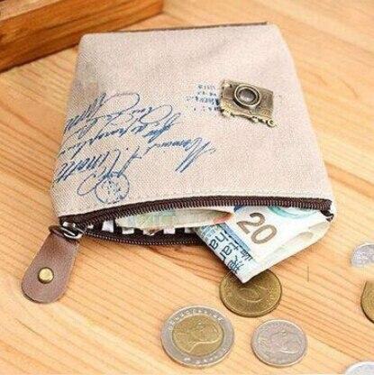 Peerless Small Zip Retro Paris Change Coin Purse Unisex Mini Money Bag Stationery Holder Key Car Pouch Girls Coin Wallet Stationery Holder