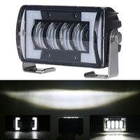 Krator 24W DRL LED Work Driving Lights Fog Lamp Spotlights Offroad 4WD SUV 12V 24V For ATV SUV Truck Excavator Road roller