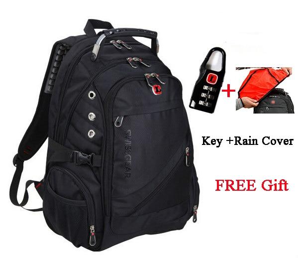 07ba660415f9 2015 Fashion Wenger Swissgear Backpack Men s Travel Hiking Bag Laptop Waterproof  Swiss Army Computer Backpack Hiking Bag