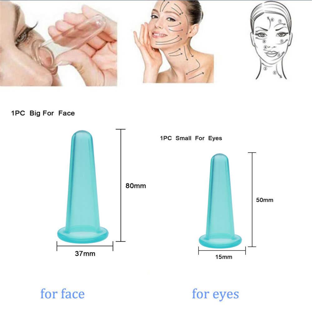 Warna Acak!! 1 Pc Cangkir Pijat Perawatan Kesehatan Wajah Mata Anti Age Silikon Cangkir Wajah Lifting Pemijatan Alat Kecantikan