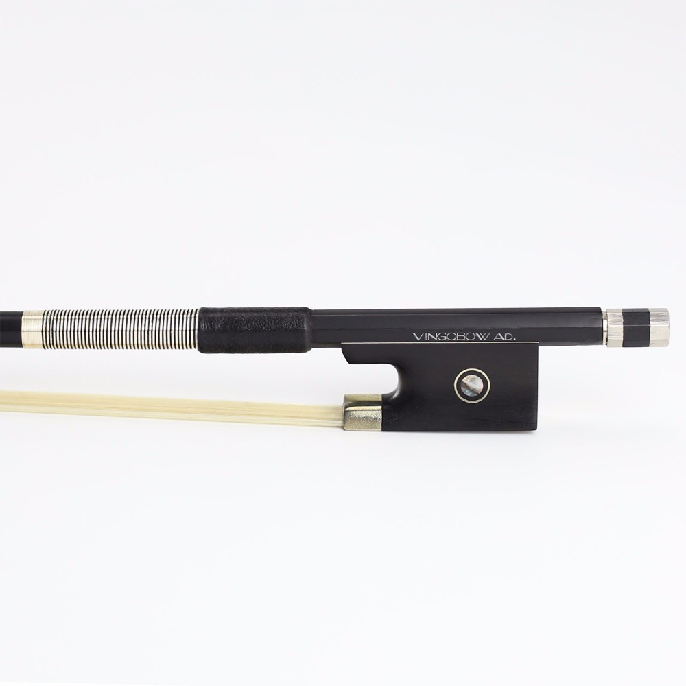 VingoBow 1/4 Size Black Carbon Fiber Violin Bow Pernambuco Performance for High Level Player Ebony Frog Warm Tone 100V ModelVingoBow 1/4 Size Black Carbon Fiber Violin Bow Pernambuco Performance for High Level Player Ebony Frog Warm Tone 100V Model