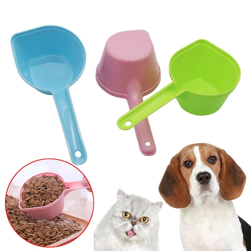 1 шт., высокое качество, совок для корма пластмассовый для кошачьего корма, корм для собак, товары для домашних животных, ложка для кормления, лопатка для еды