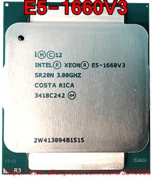 Процессор Intel ЦП Xeon E5-1660V3 3,00 ГГц 8 ядер 20 м LGA2011-3 E5-1660 V3 процессор E5 1660V3 Бесплатная доставка E5 1660 V3