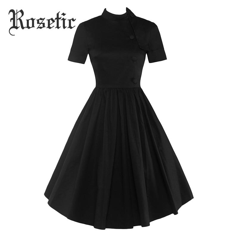 rosetic gothic dress black summer women expansion