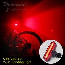 Deemount 100 lm Перезаряжаемые вел USB горный велосипед задний фонарь MTB Детская безопасность Предупреждение Велосипедный Спорт заднего света Велосипедный Спорт лампа