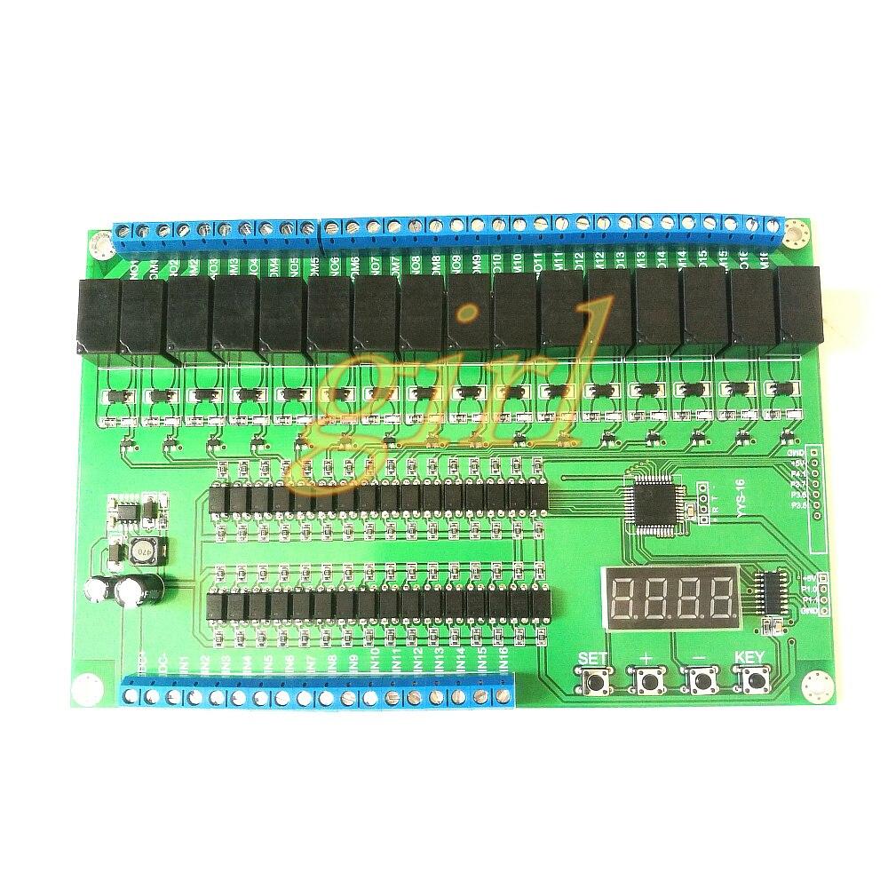 16 Way Relay Control Module / Board PLC Delay / Point / Self Lock / Interlock / Sequential Start Stop