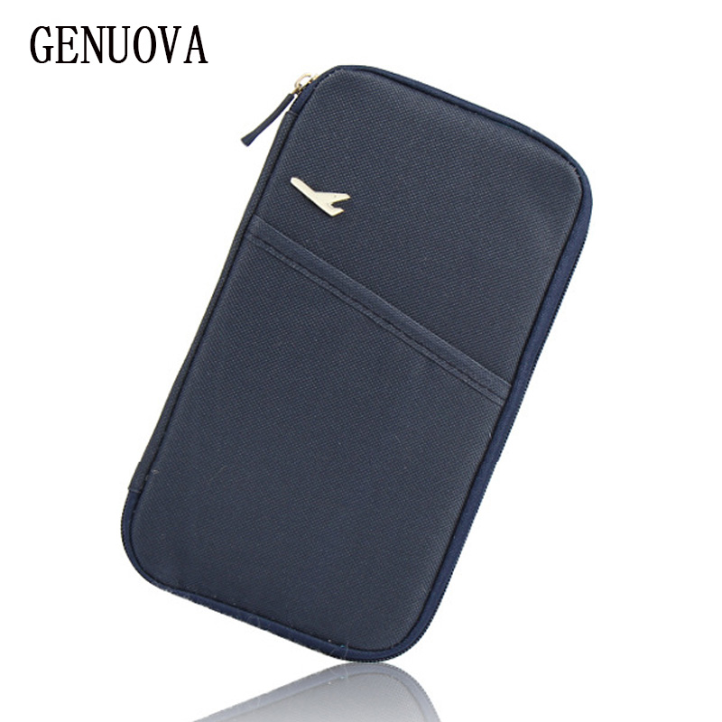 Travel Storage Passport Cover Organizer Clutch Money Bag Multifunction Credit ID Card Holders Cash Wallet Business Card Holder