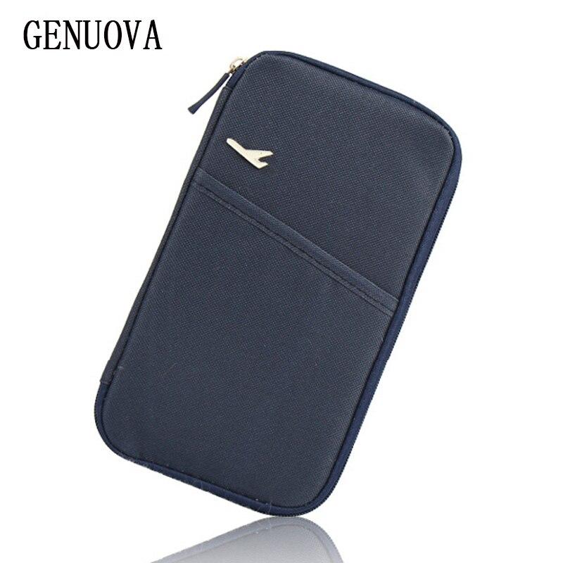 Travel Storage Passport Cover Organizer Clutch Money Bag Multifunction Credit ID Card Holders Cash Wallet Business Card Holder
