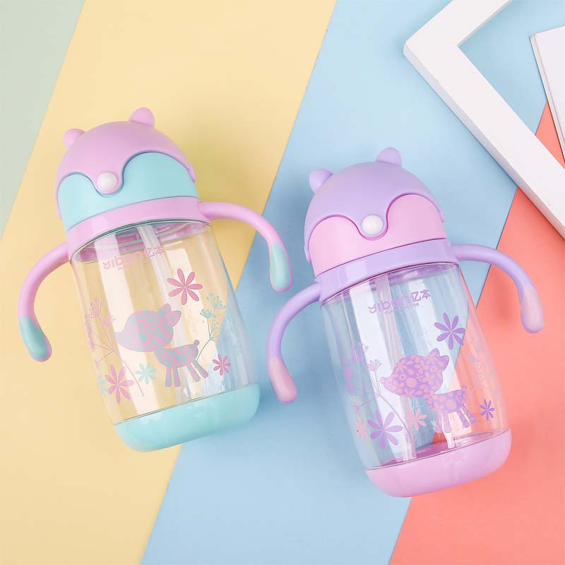 400ml Bpa Free Baby Straw Drinking Cups Monkey Kids Cartoon Learn Feeding Water Bottle Children Straw Trainning Cup Exquisite In Workmanship