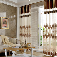 European Embroidered Blinds Sheer Curtains And Tulle Window Voile Curtains For Living Room Bedroom rideaux pour le salon