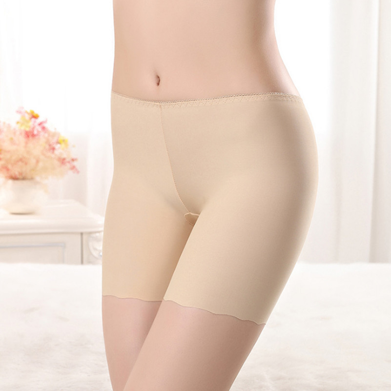 Sexy Women Soft Cotton Seamless Safety Short Pants Summer Quality Under Skirt Shorts Modal Ice Silk Breathable Short Tights New