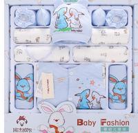 2017 outono inverno novo conjunto de roupas de bebê recém-nascido presente 100% caráter de algodão roupas infantis ternos 16 peças conjunto presente do bebê HC1023