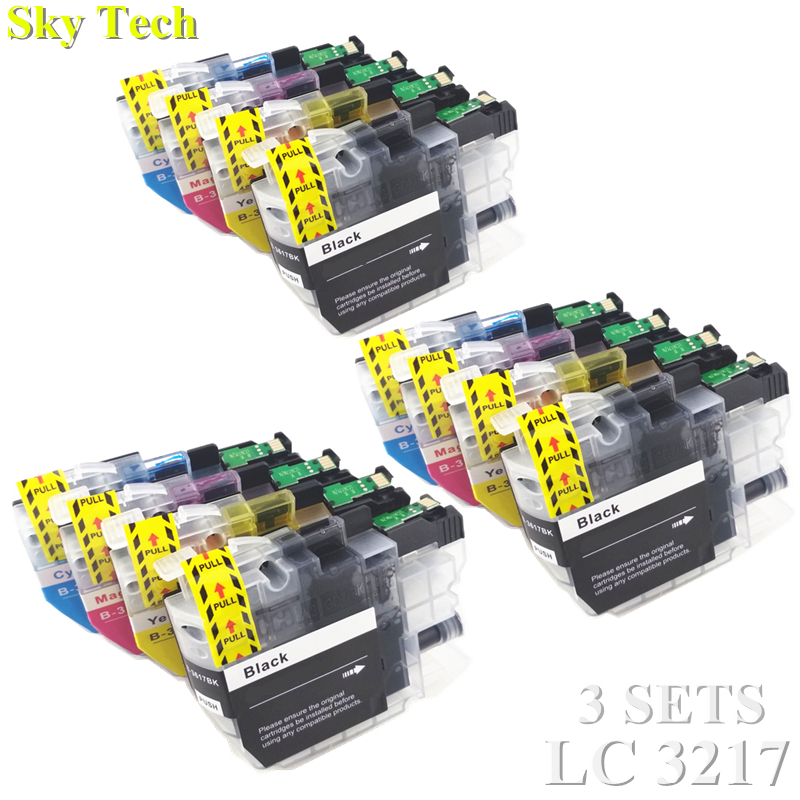 12X Compatible Ink Cartridge For LC3217 LC 3217 , For Brother MFC-J5330DW J5335DW J5730DW J5930DW J6530DW J6930DW J6935DW