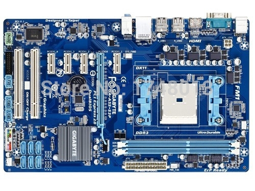 Free shipping original desktop motherboard for Gigabyte GA-A55-S3P A55-S3P DDR3 Socket FM1 Gigabit Ethernet motherboards  free shipping original motherboard for gigabyte ga a55 s3p socket fm1 ddr3 32gb a55 s3p all solid atx desktop motherboard