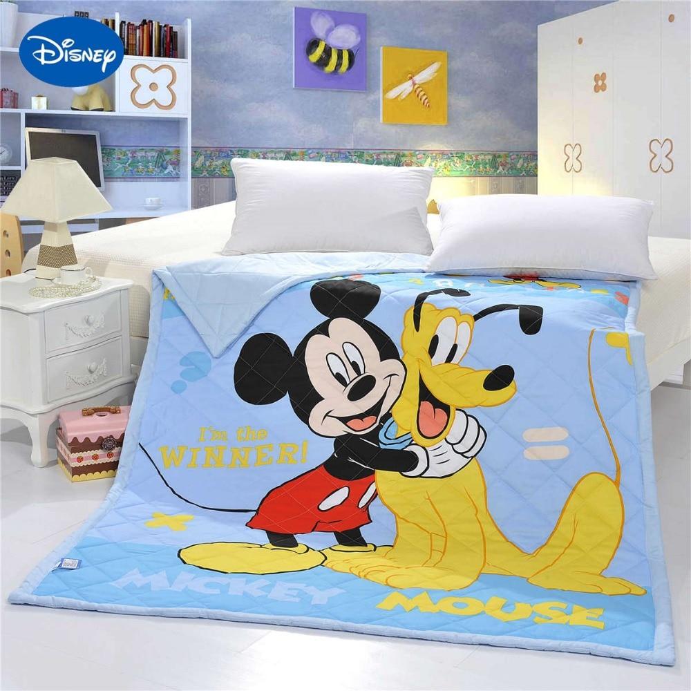 Mickey Mouse Goofy courtepointes couette chambre décor literie coton tissé coquille 150*200cm 200*230cm haute qualité été saison garçons