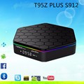 T95Z PLUS TV Box Amlogic S912 Android 6.0 Octa-core Kodi Pendoo 2G 16G 2.4G +5G Dual Wifi Bluetooth Gigabit Media Player