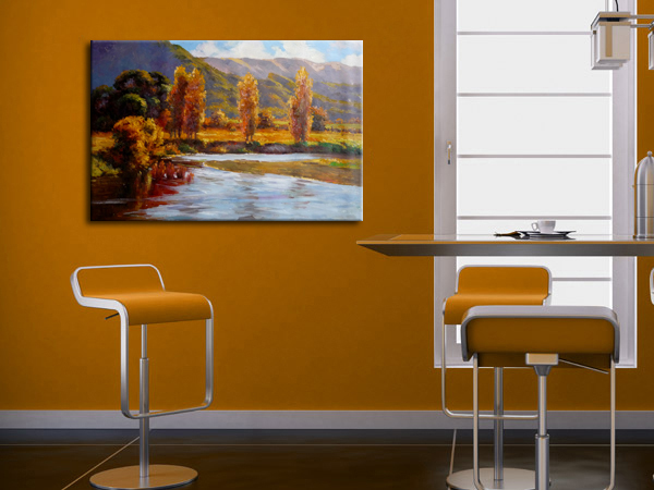 Olieverf landschap ontwerp pictures voor kantoor kamer