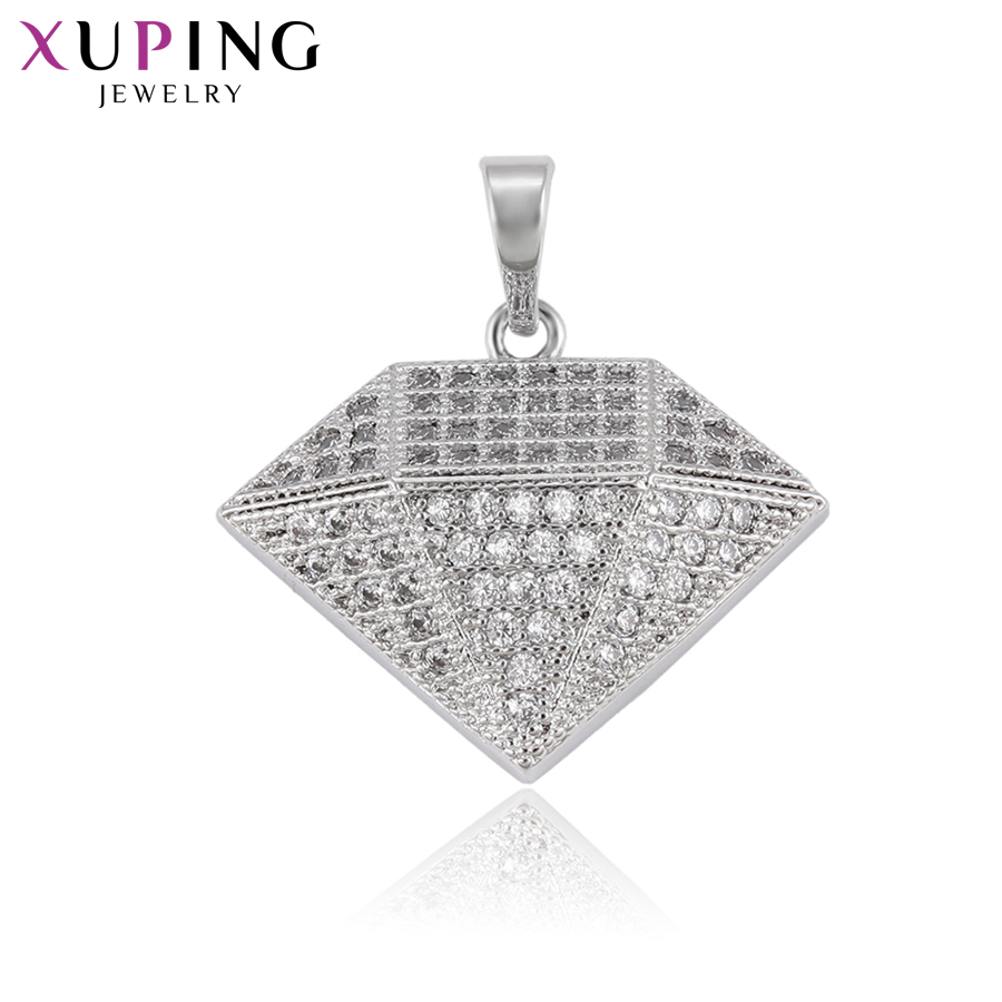 11.11 Deals Xuping Charm Style Necklace Pendant With Synthetic CZ for Women Girls Jewelry Black Friday Gifts S81,6-33387