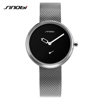 Women Watches Sliver Top SINOBI Brand Fashion Creative Dial Ladies Quartz Clock Watch Women Bracelet Watch