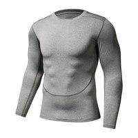 Muscle Men Compression Tight Skin Shirt Long Sleeves 3D Prints Rashguard Fitness Base Layer Weight Lifting