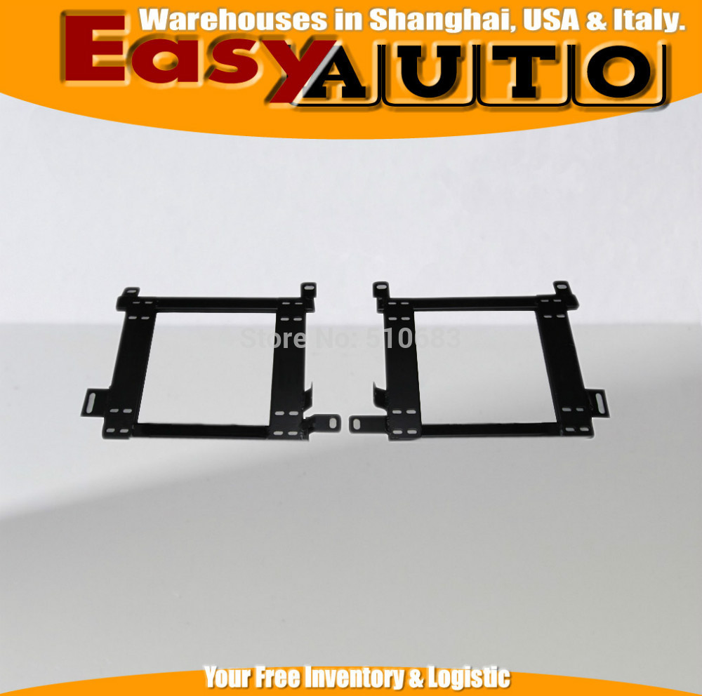 A Pair L&R For Mitsubi*shi Lioncel  Racing Seats Auto Replace Parts Stainless Iron Strength Seat Brackets Seat Base Mounting