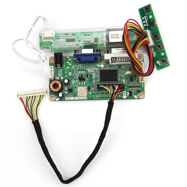 VGA + DVI Para LP154W01 LTN154X3-L03 M. R2261 M. RT2281 LCD/LED Placa de Driver de Controlador 1280x800 LVDS Monitor de Reaproveitamento Laptop
