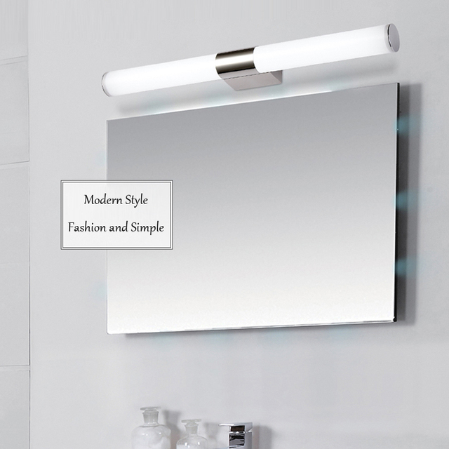Modern LED Mirror Front Light Bathroom Vanity Wall Lamps Bedroom ...