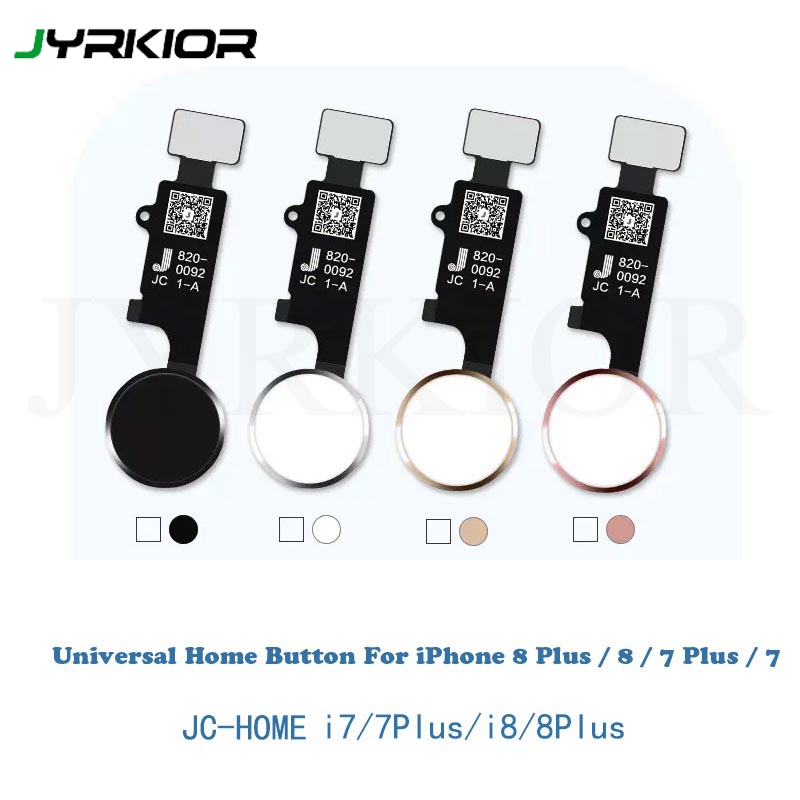 for Apple iPhone 7 with Tool Kit JC Universal Home Button 8 Plus 7 Plus Version 4 White with Gold Ring 8