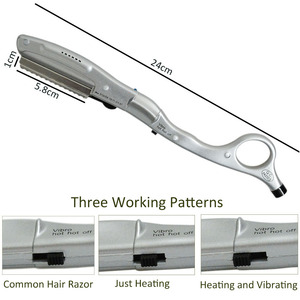 Image 3 - Ultrasonic Hot Vibrating Razor Heated Vibrating Hot Razor for Hair Cut Styling Avoid Split Ends