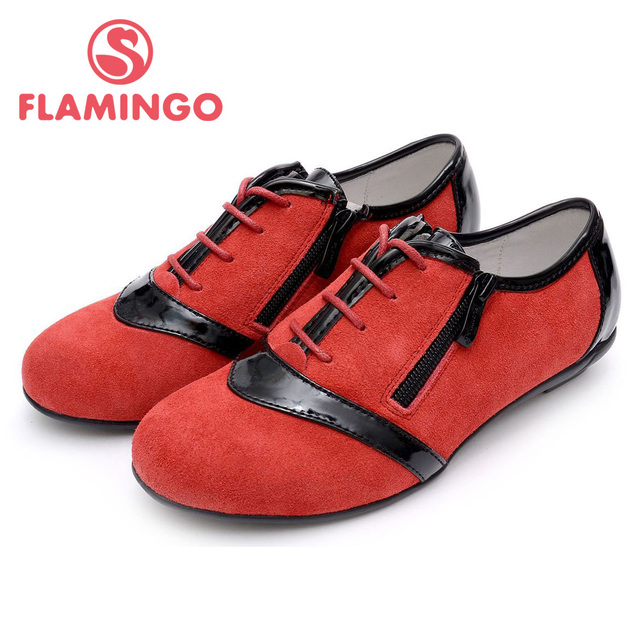 FLAMINGO 100% Russian Famous Brand 2015 New Arrival Spring & Autumn children Fashion High Quality Shoes HP4118