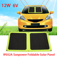 12W 6V Solar Generator Phone Charger Mobile Power Mobile Phone Durable Climbing Travel Camping Solar Panel Solar Charger Panel