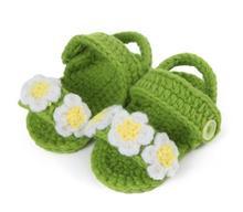 1 пара новый горячая распродажа прекрасный свободного покроя мягкие мальчиков девушки цветы ручного вязания малыша обувь детская кроватка обувь 11 см