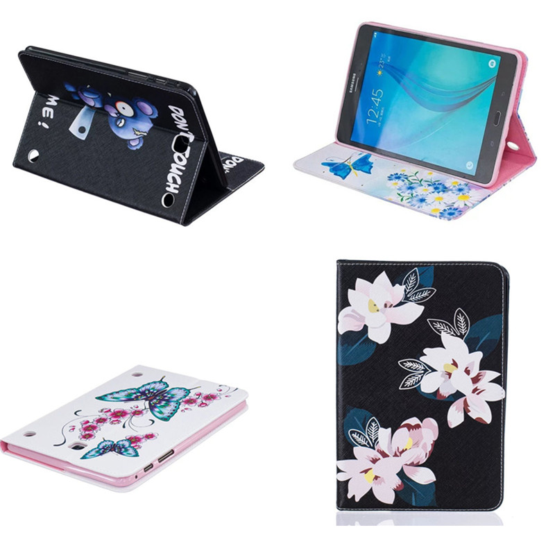 BF Cute PU Leather Stand Fashion Case with Card Slot For Samsung Galaxy Tab A 8.0 T350 T355 sm-t355 T355C Tablet Book Cover