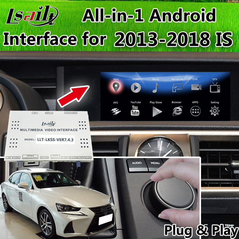 Plug&Play All-in-1 Android 6.0 GPS Navigation Box for 2013-2018 Lexus IS200T IS250 IS300h IS350 supprot OEM Knob Operate