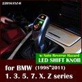 Бесплатная доставка LED ручка переключения передач для BMW E38 E39 E46 E60 E90 E92 E82 E84 E87 E83 E53 E85 E89 1998 2011 Автореверс Опасности
