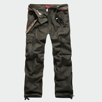 3bd9c9a5ea819c 2017 New Arrival 100% Cotton High Quality Mens Military Cargo Pants  Multi-pockets Trousers Casual Loose Pants Size 30-44