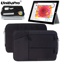 Unidopro Multifunctional Sleeve Briefcase Notebook Handbag Case For Microsoft Surface Pro 3 I7 I5 I3 Tablet