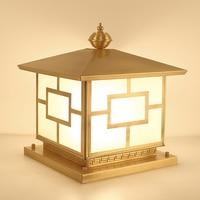 Золотой уличная лампа с гидроизоляцией забор парк столб освещение для жилых помещений пейзаж огни